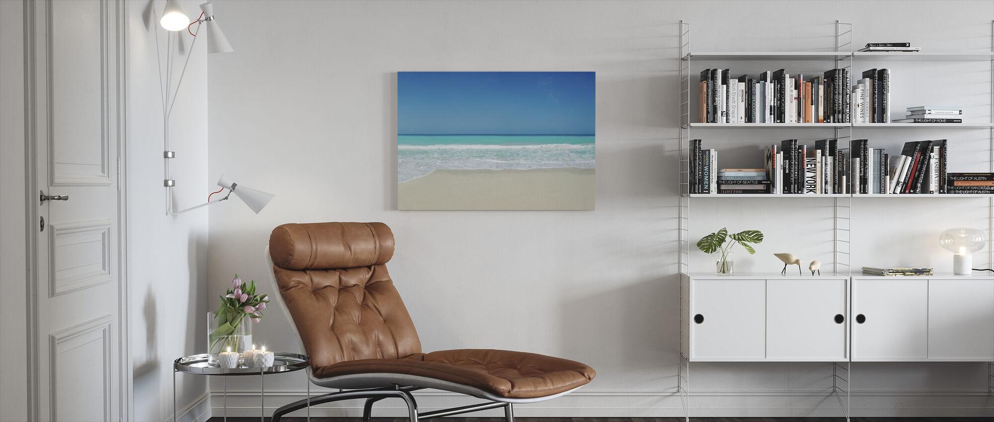 White Sand Beach - Canvas print - Living Room