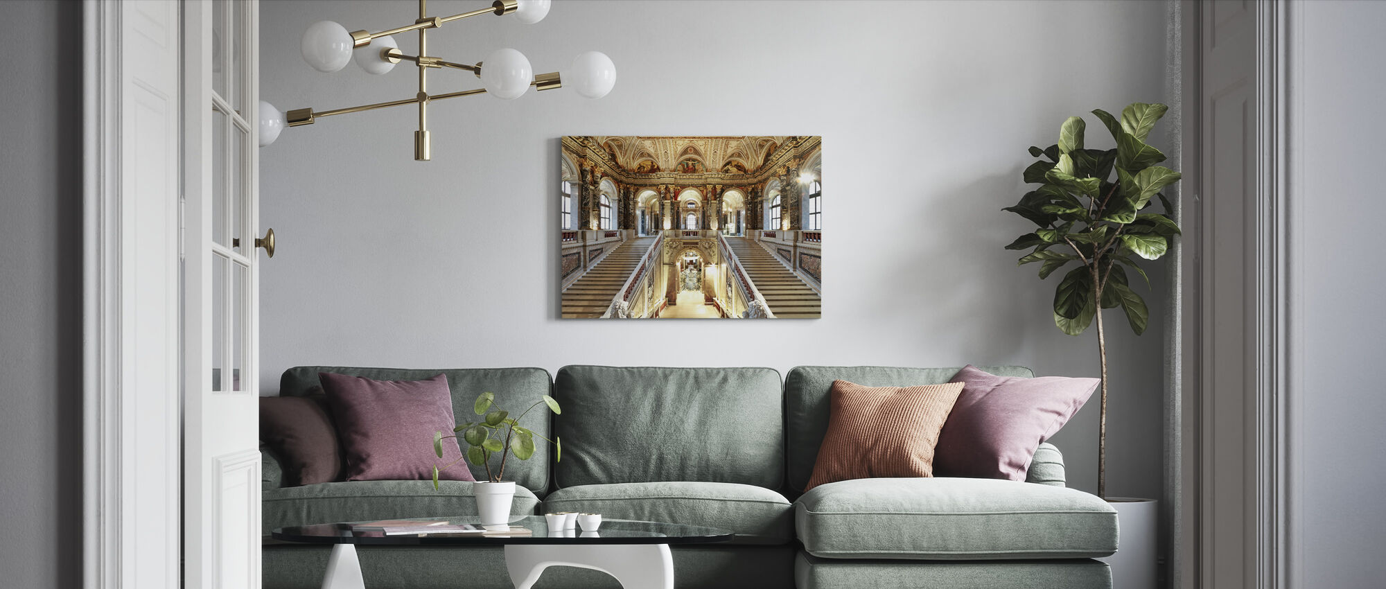Palace Staircase - Canvas print - Living Room