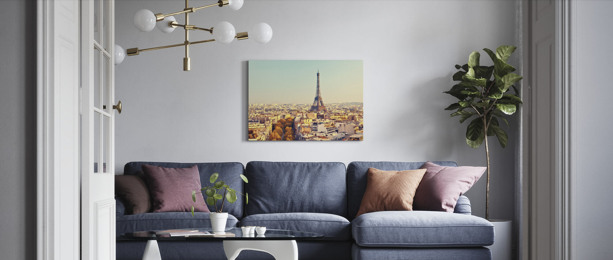 Eiffel Tower at Sunset - Canvas print - Living Room