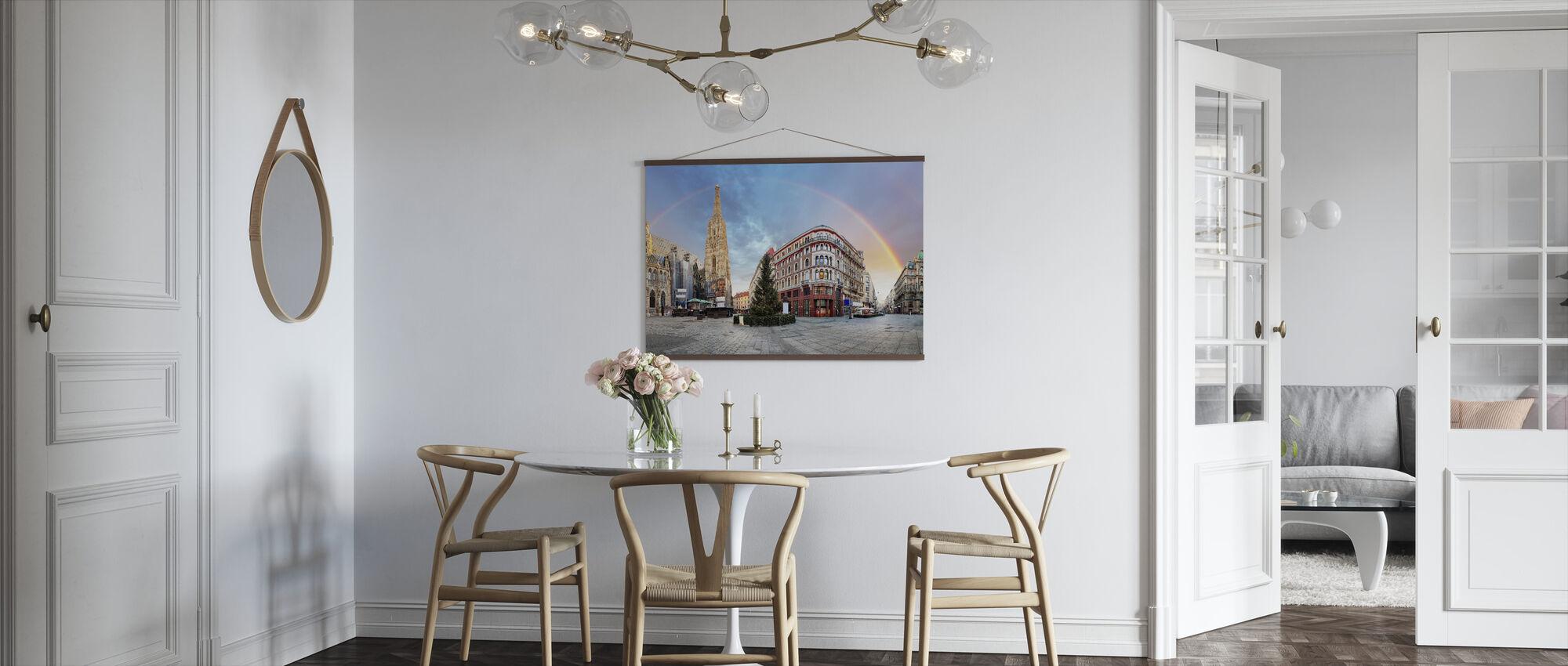 Vienna Square with Rainbow - Poster - Kitchen
