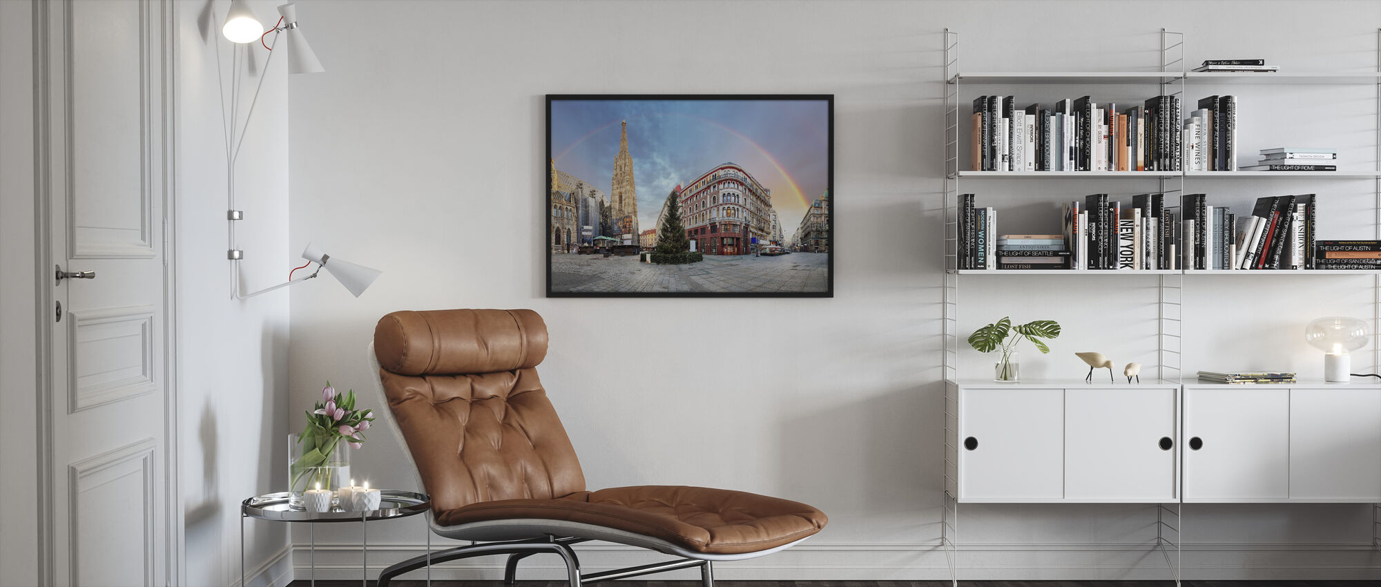 Vienna Square with Rainbow - Framed print - Living Room