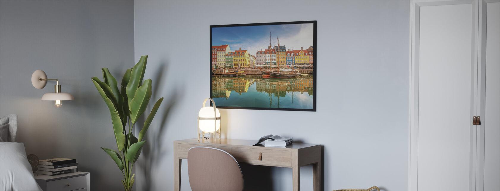 Nyhavn Canal - Indrammet billede - Soveværelse