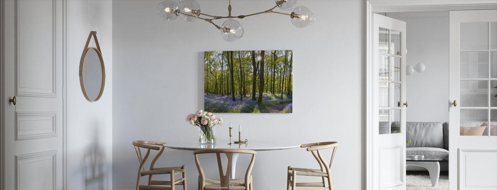 Bluebell Carpets on Woodland - Canvas print - Kitchen