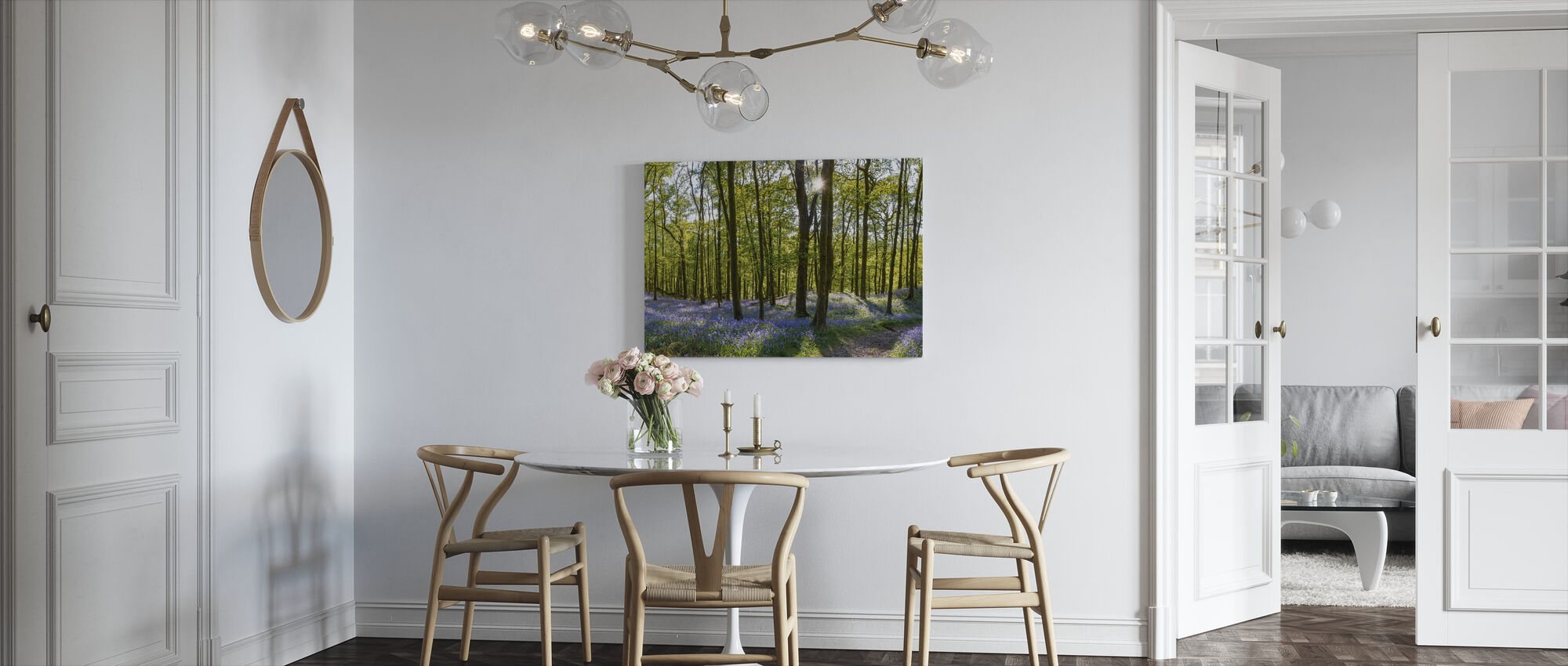 Bluebell Carpets on Woodland - Canvas print - Kitchen