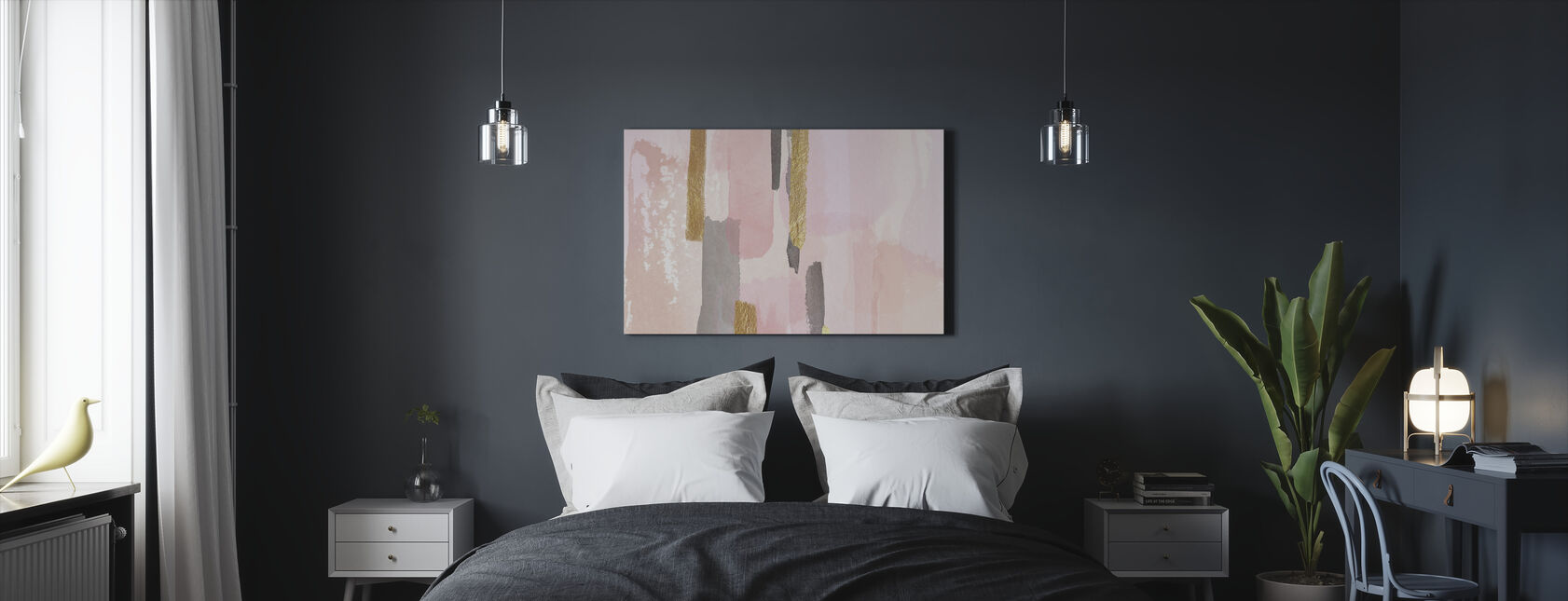 Pink and Gold Décor - Canvas print - Bedroom