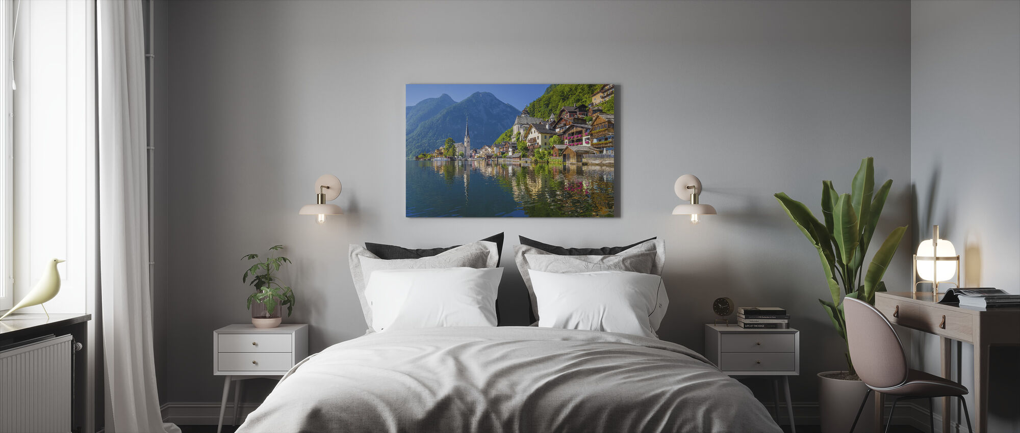 Mountain Village in the Alps - Canvas print - Bedroom