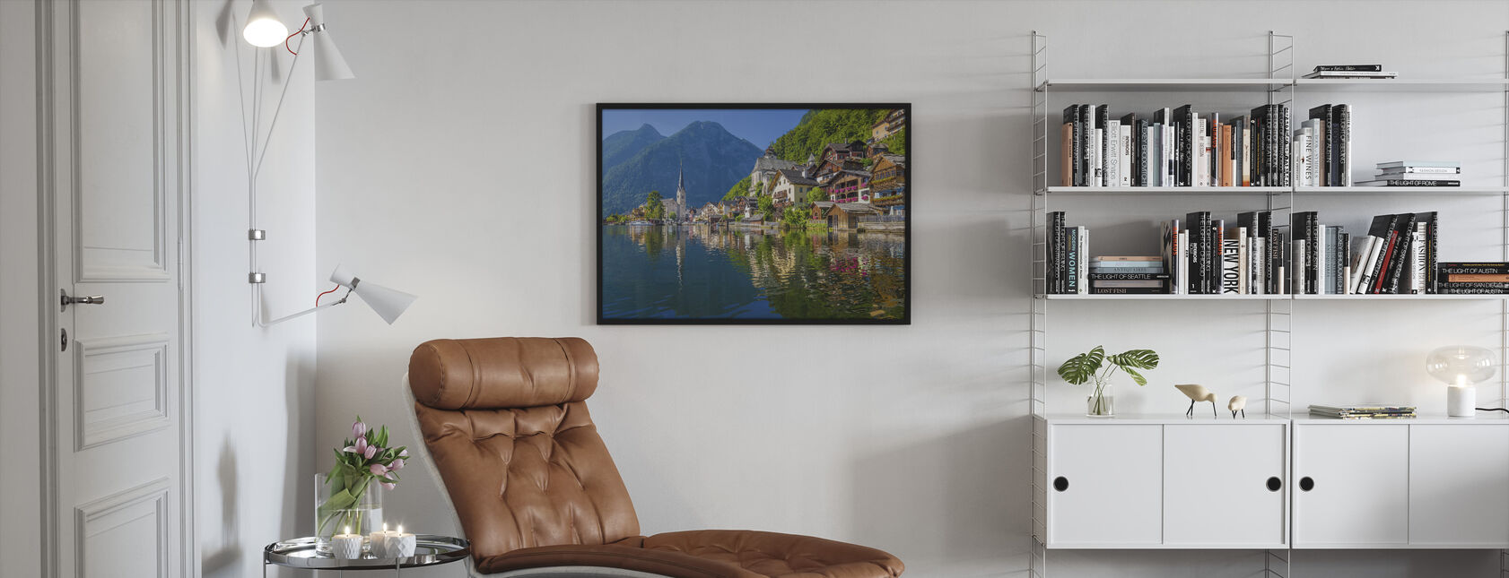 Mountain Village in the Alps - Framed print - Living Room