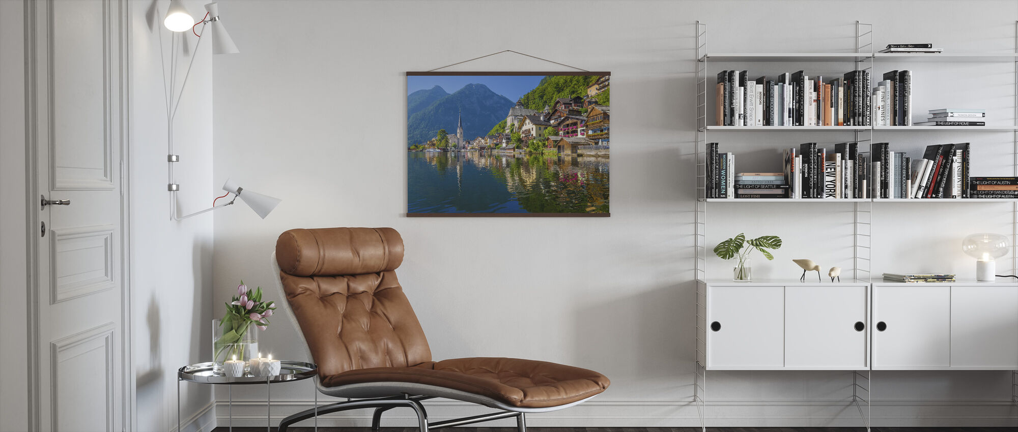 Mountain Village in the Alps - Poster - Living Room