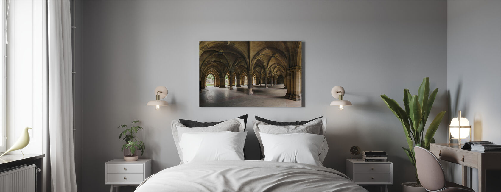 Columns in Glasgow - Canvas print - Bedroom
