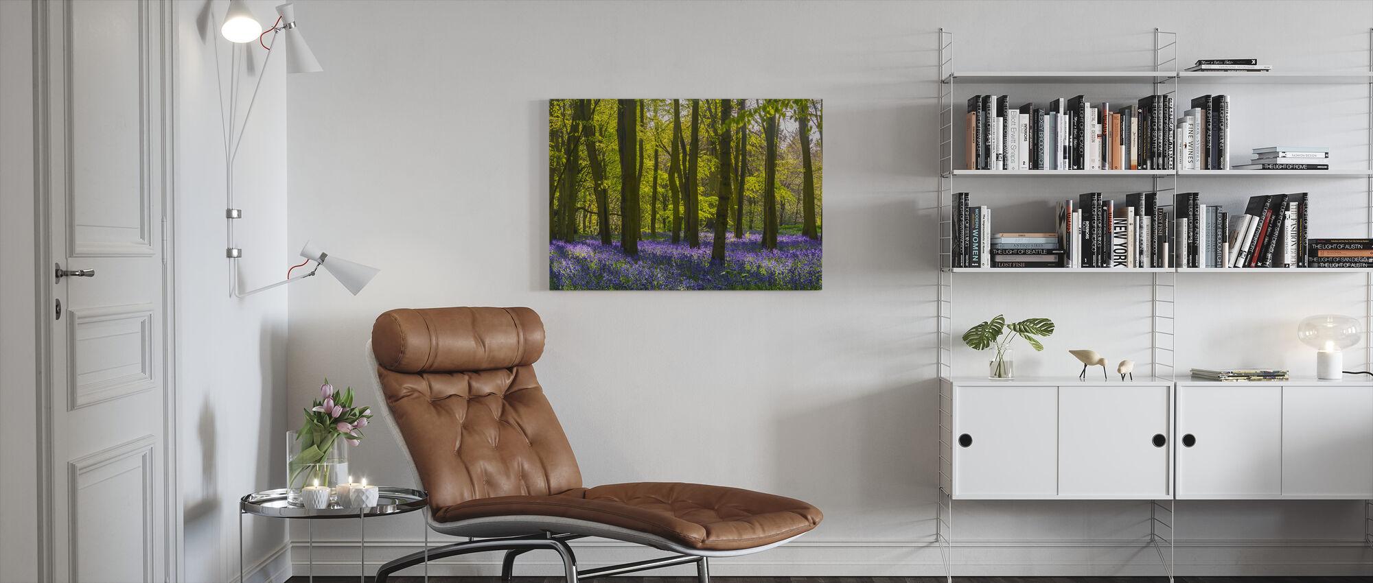 Bluebells Woodland - Canvas print - Living Room