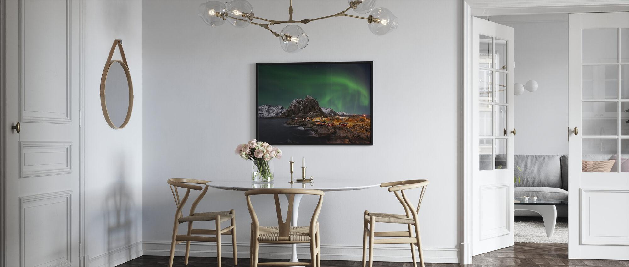 Hamnoy nothern Lys - Innrammet bilde - Kjøkken