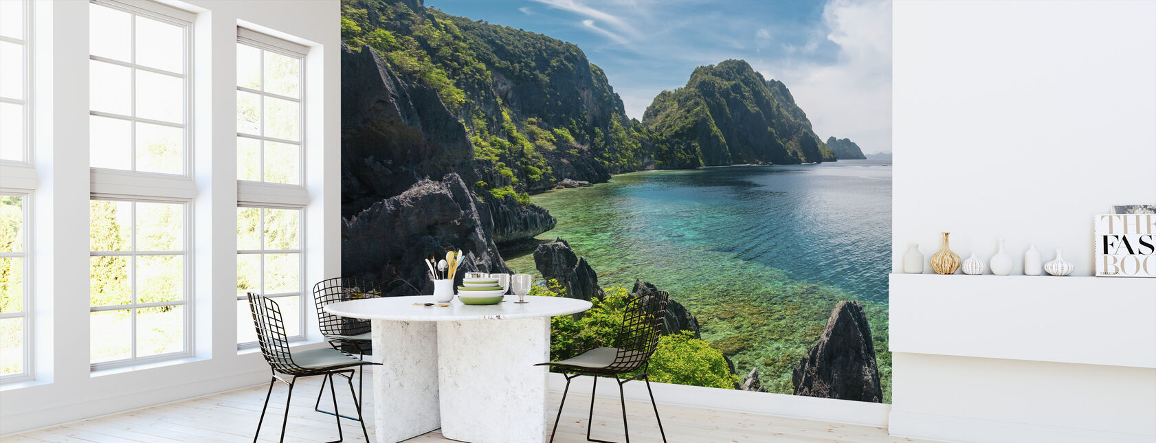 Het Nido eiland - Behang - Keuken