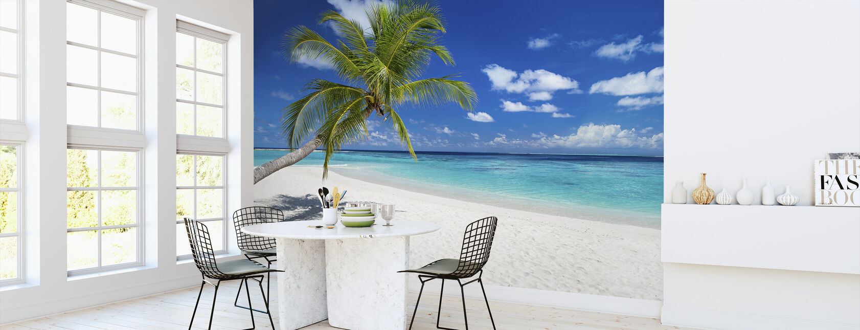 Tropisk strand - Tapet - Kjøkken