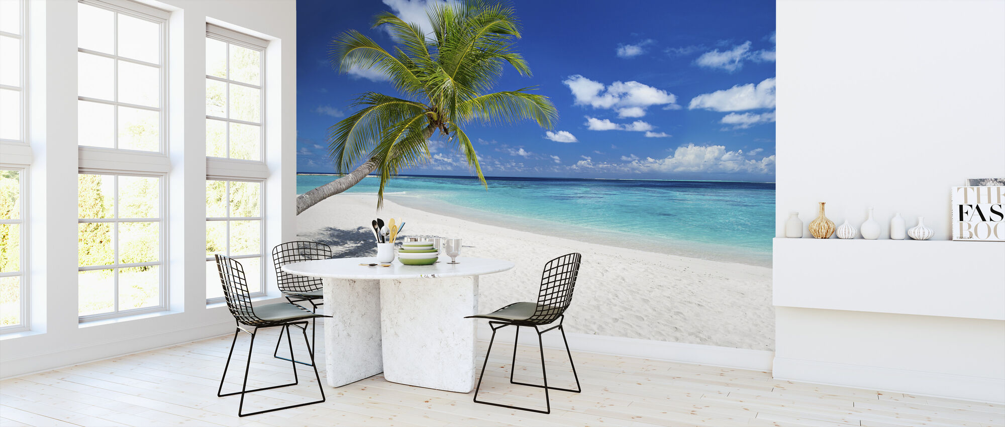 Tropical Beach - Wallpaper - Kitchen