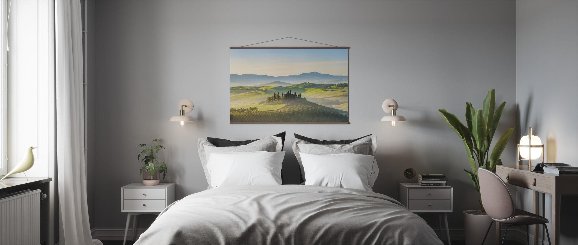 Toscana kevätaamuna - Juliste - Makuuhuone