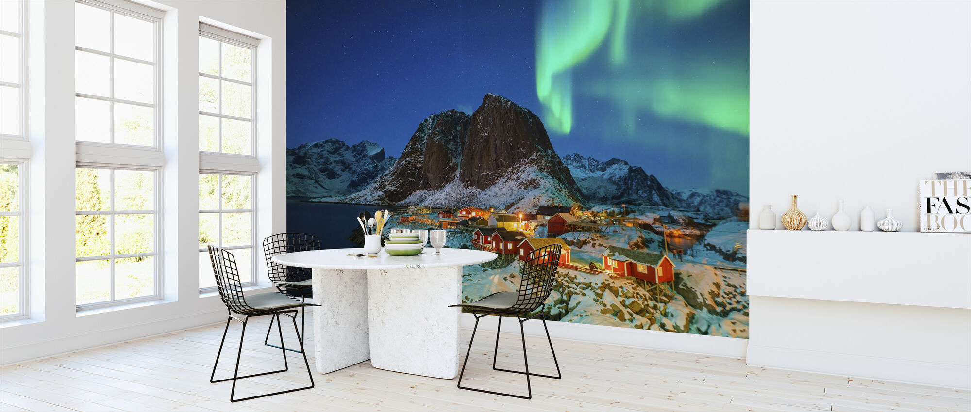 Colorful Northern Lights - Wallpaper - Kitchen