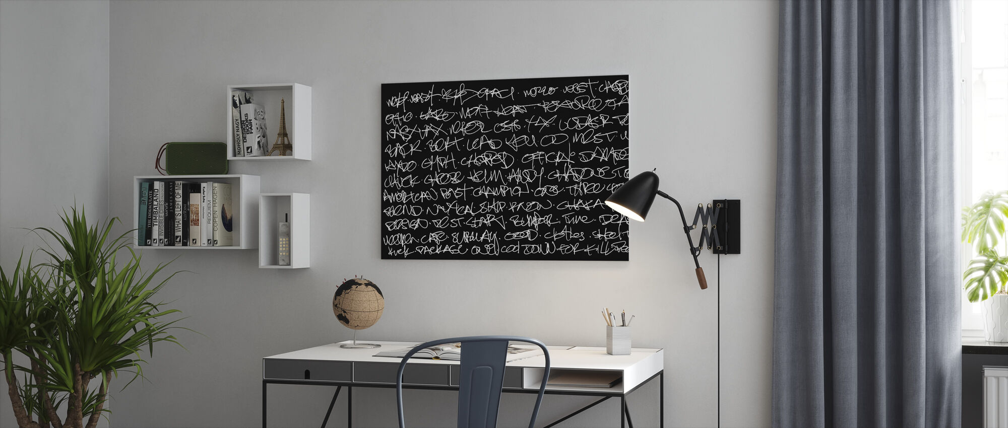 Abstract Graffiti Handschrift - Canvas print - Kantoor