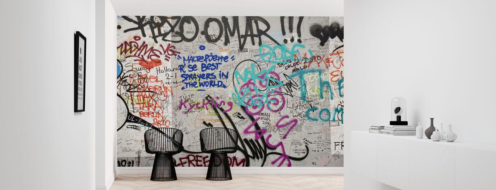 Graffiti Berlijnse Muur - Behang - Gang