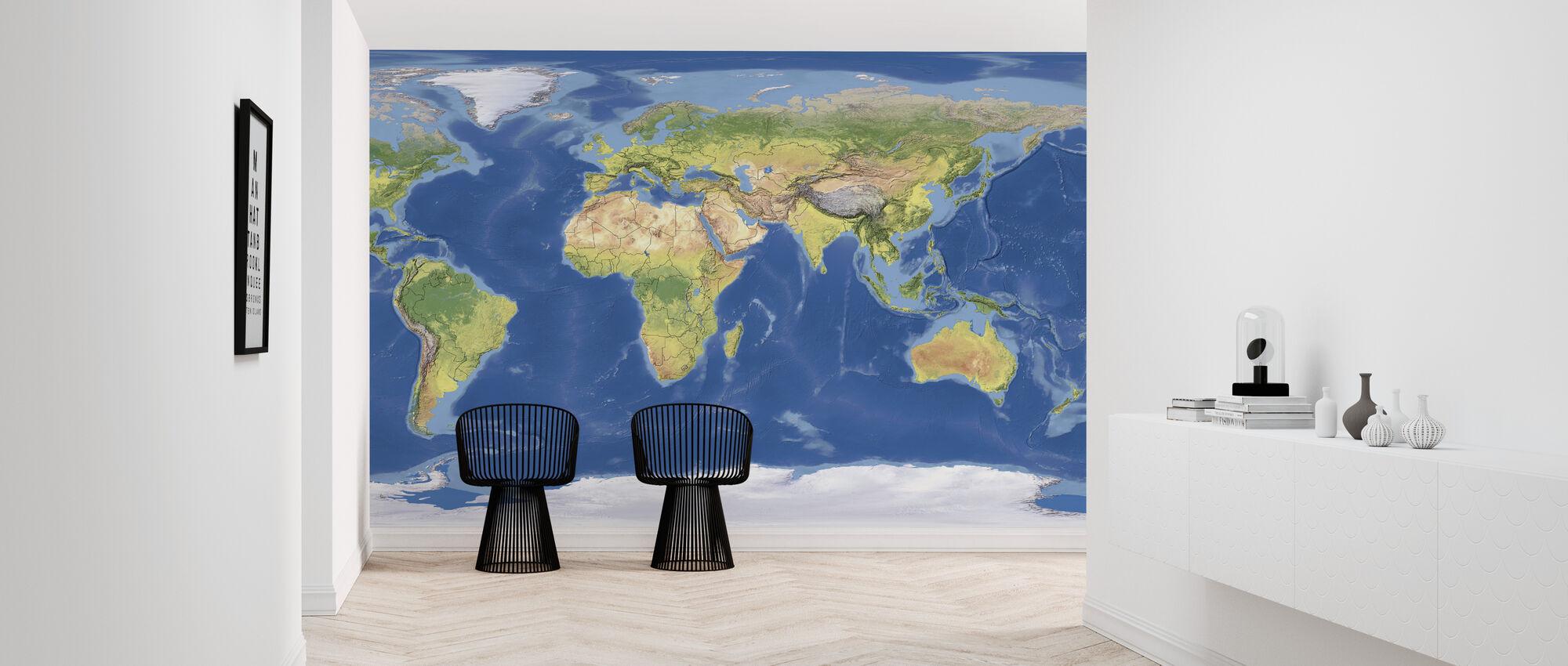 Topographic Map - Wallpaper - Hallway