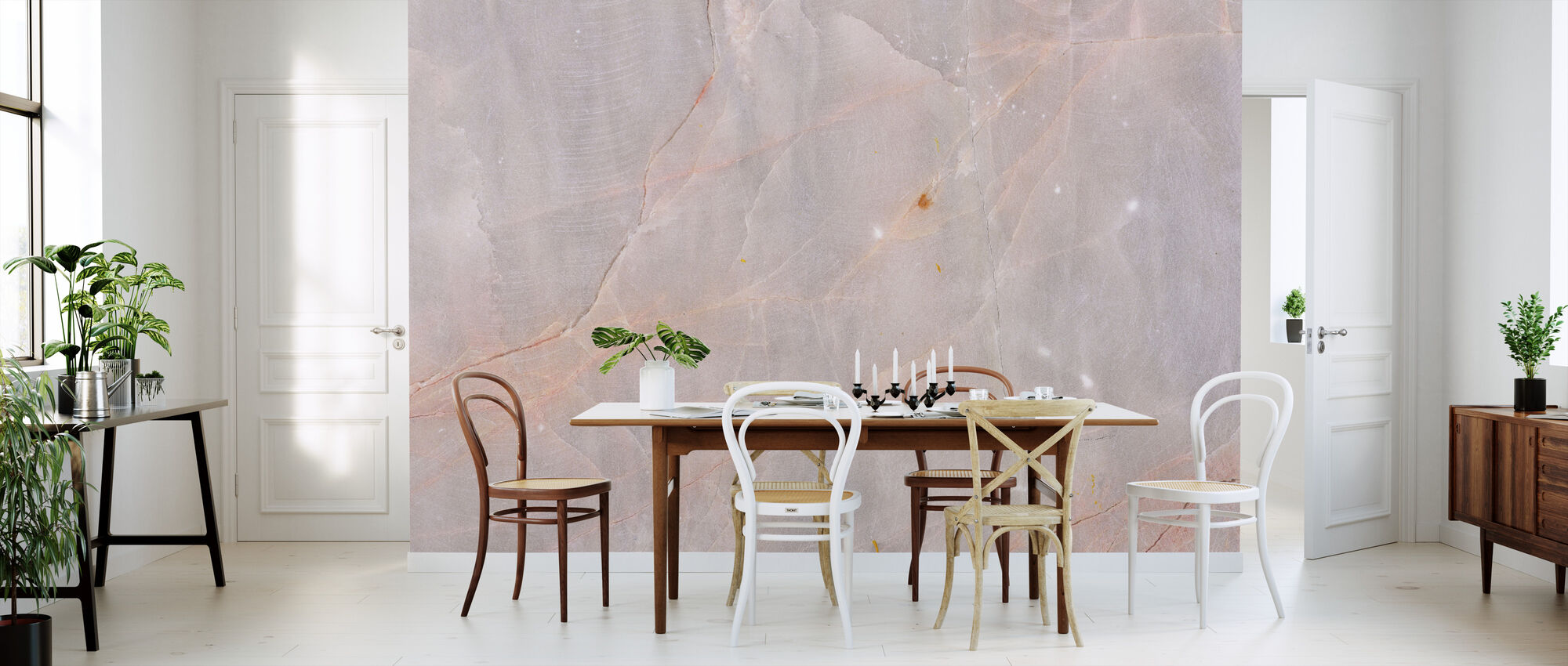 Pink Granite - Wallpaper - Kitchen