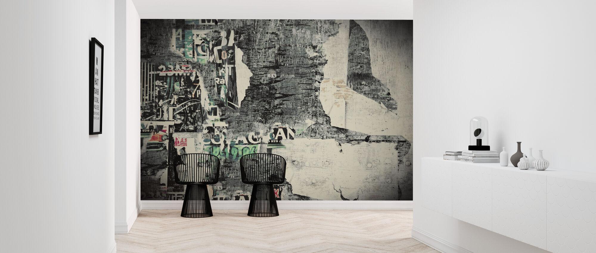 Revet abstrakte plakater - Tapet - Gang