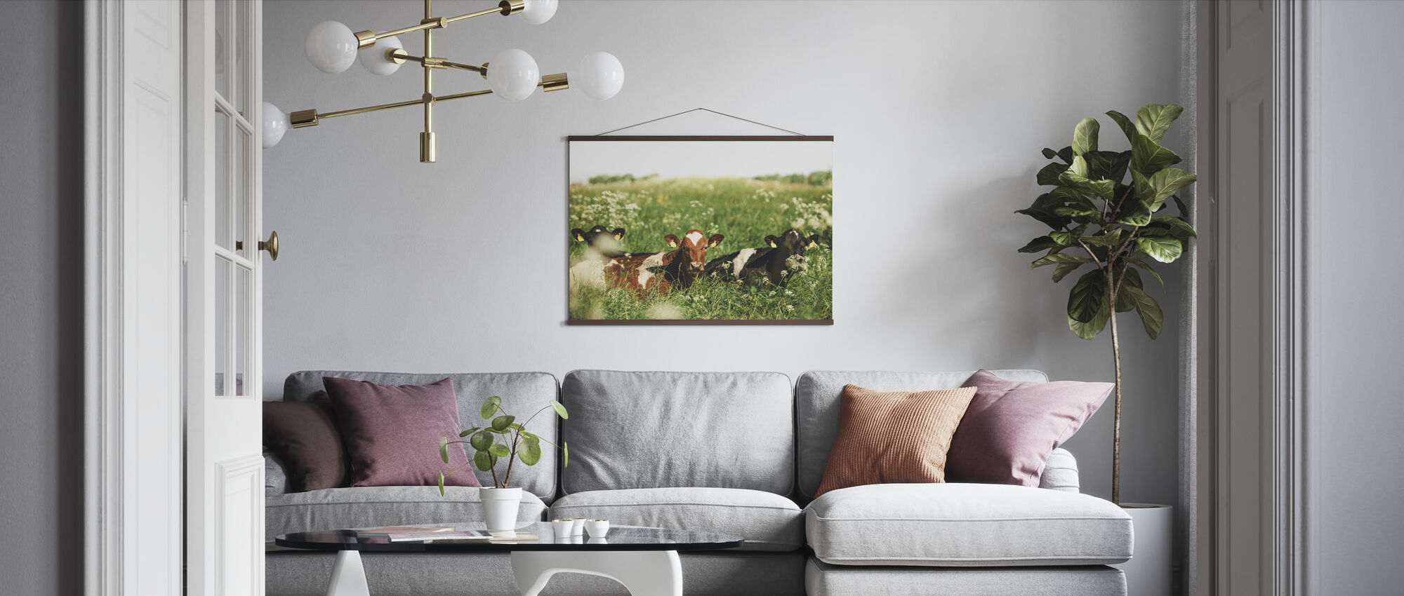 Cows in the Field - Poster - Living Room