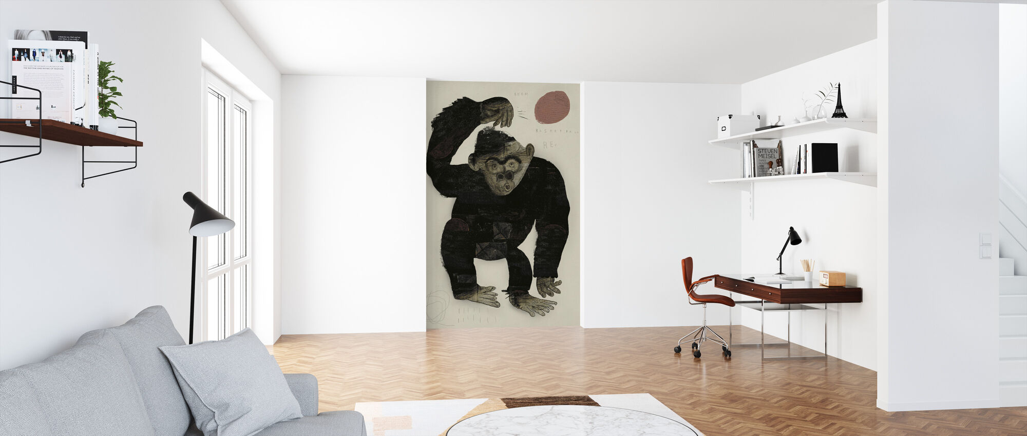 Monkey Basketball - Wallpaper - Office