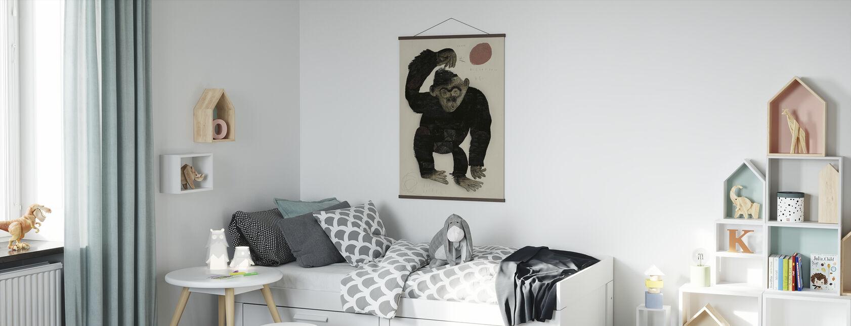 Affe Basketball - Poster - Kinderzimmer