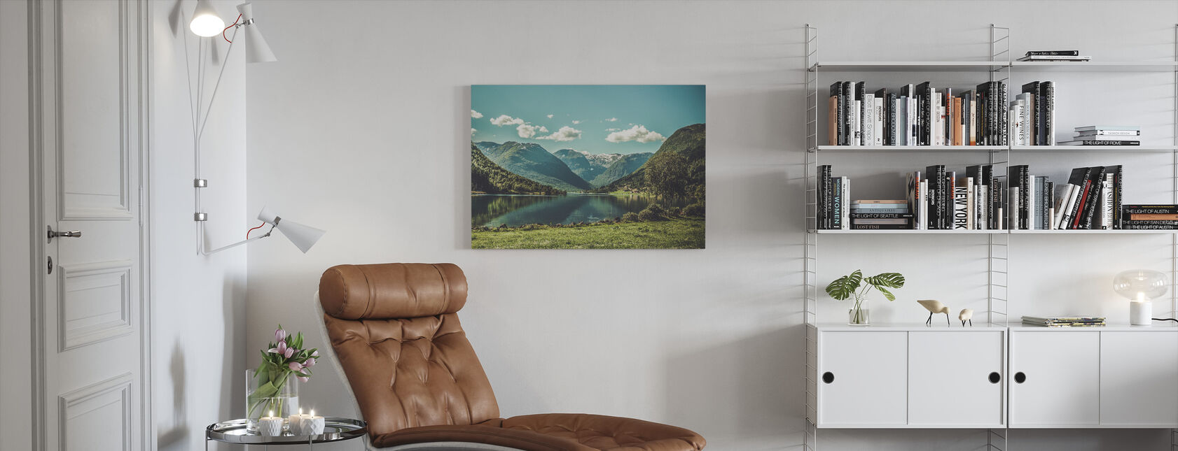 Landscape of Norway - Canvas print - Living Room