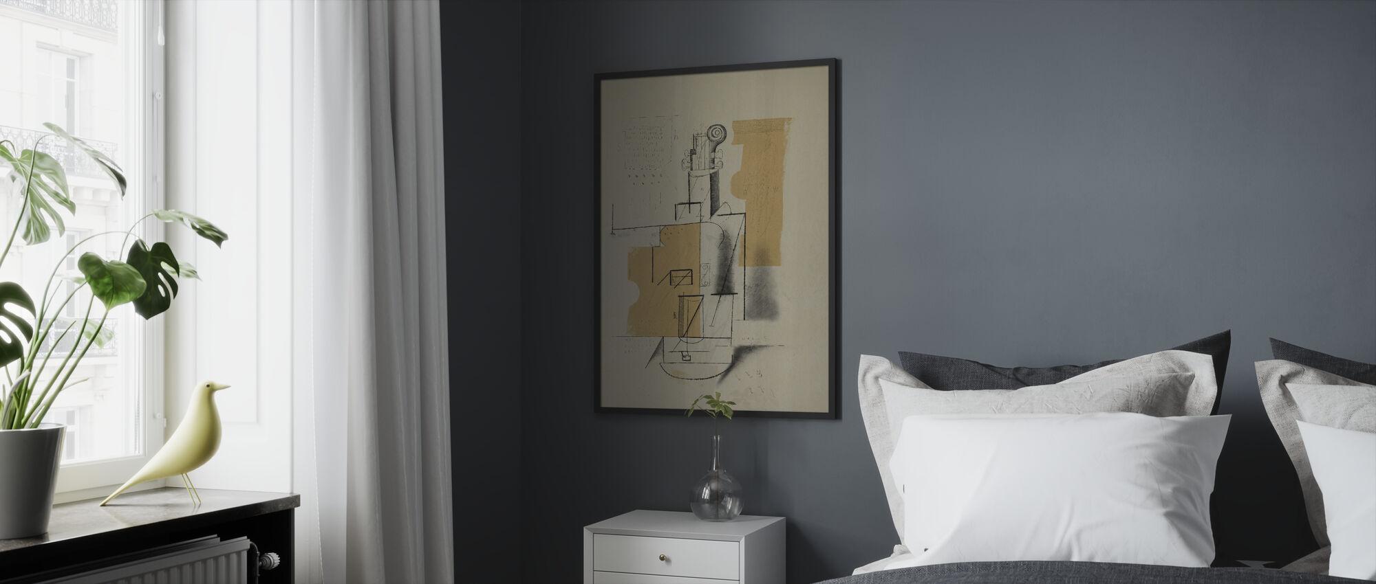Violin Sketch - Framed print - Bedroom