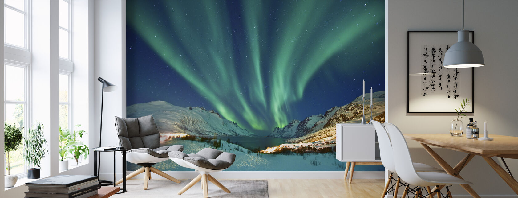 Aurora Borealis - Wallpaper - Living Room