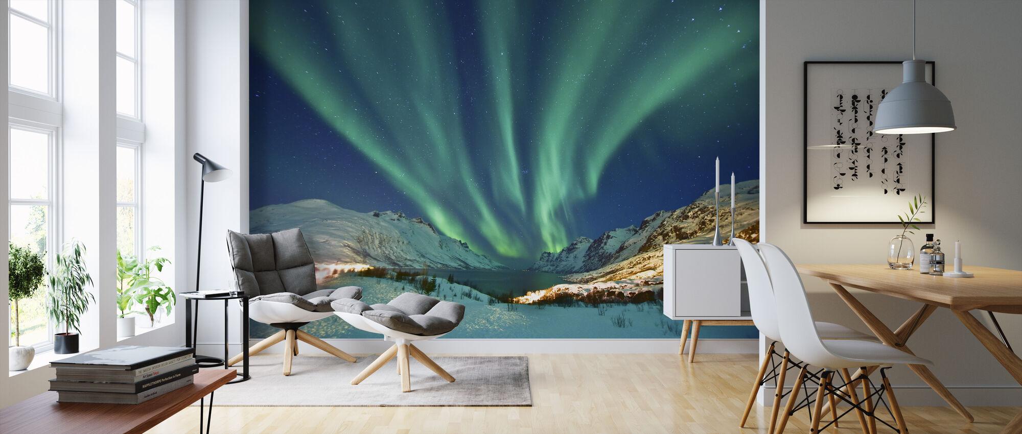 Aurora Borealis - Tapet - Stue
