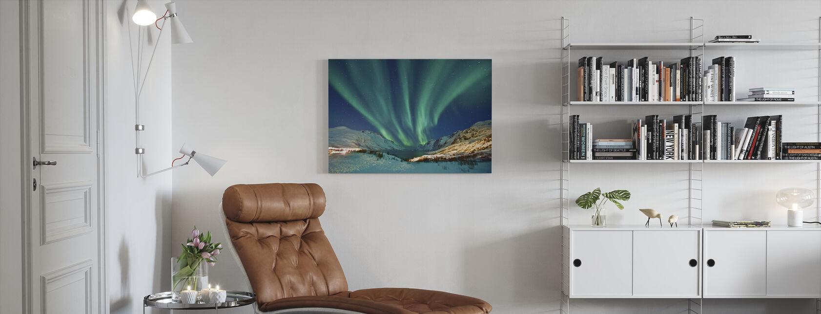 Aurora Borealis - Canvastaulu - Olohuone