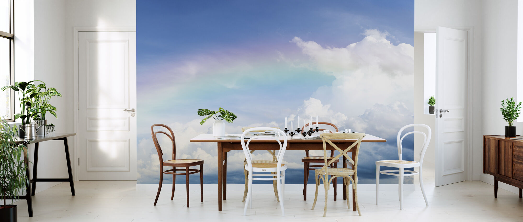 Rainbow on Cloudy Sky - Wallpaper - Kitchen