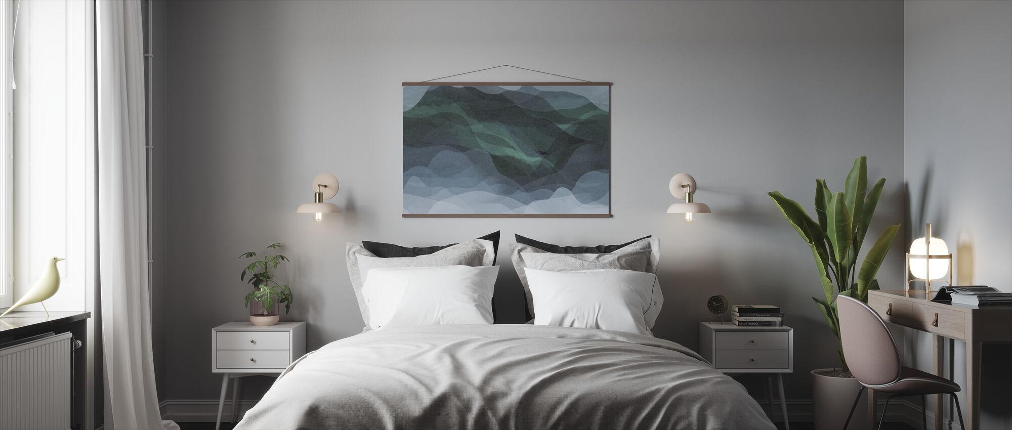 Gradient - Bluish-Green - Poster - Bedroom