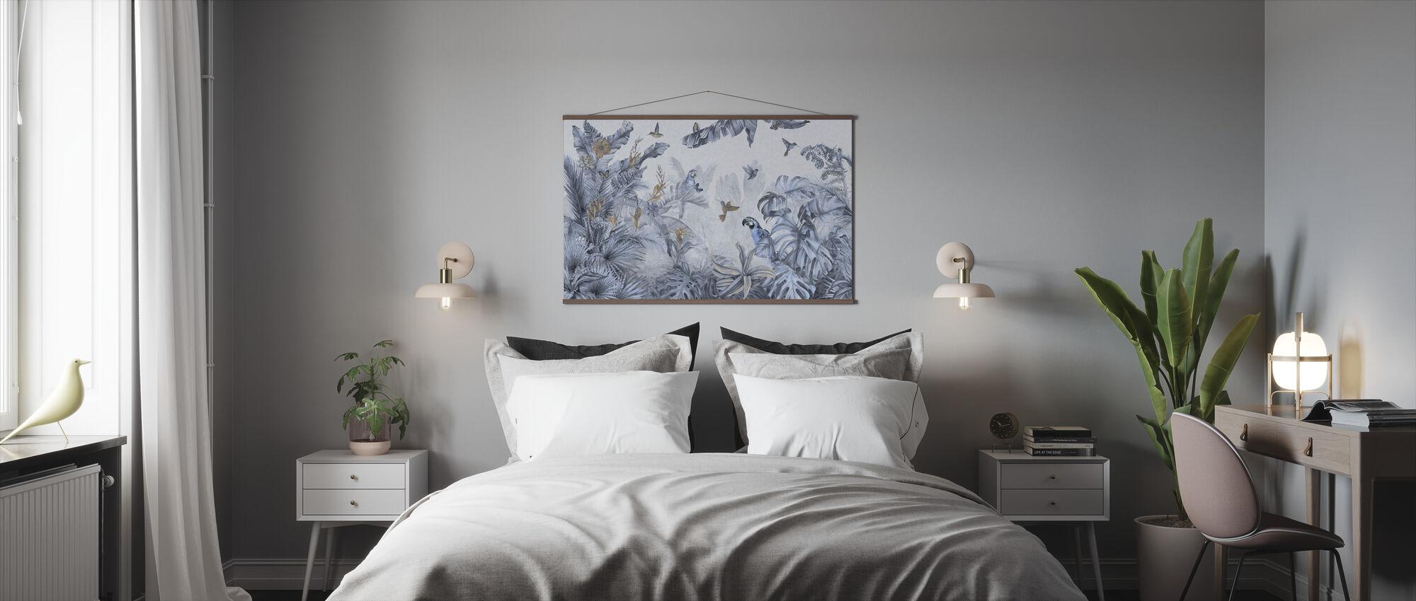 Papegaaien Paradijs - Blauw - Poster - Slaapkamer
