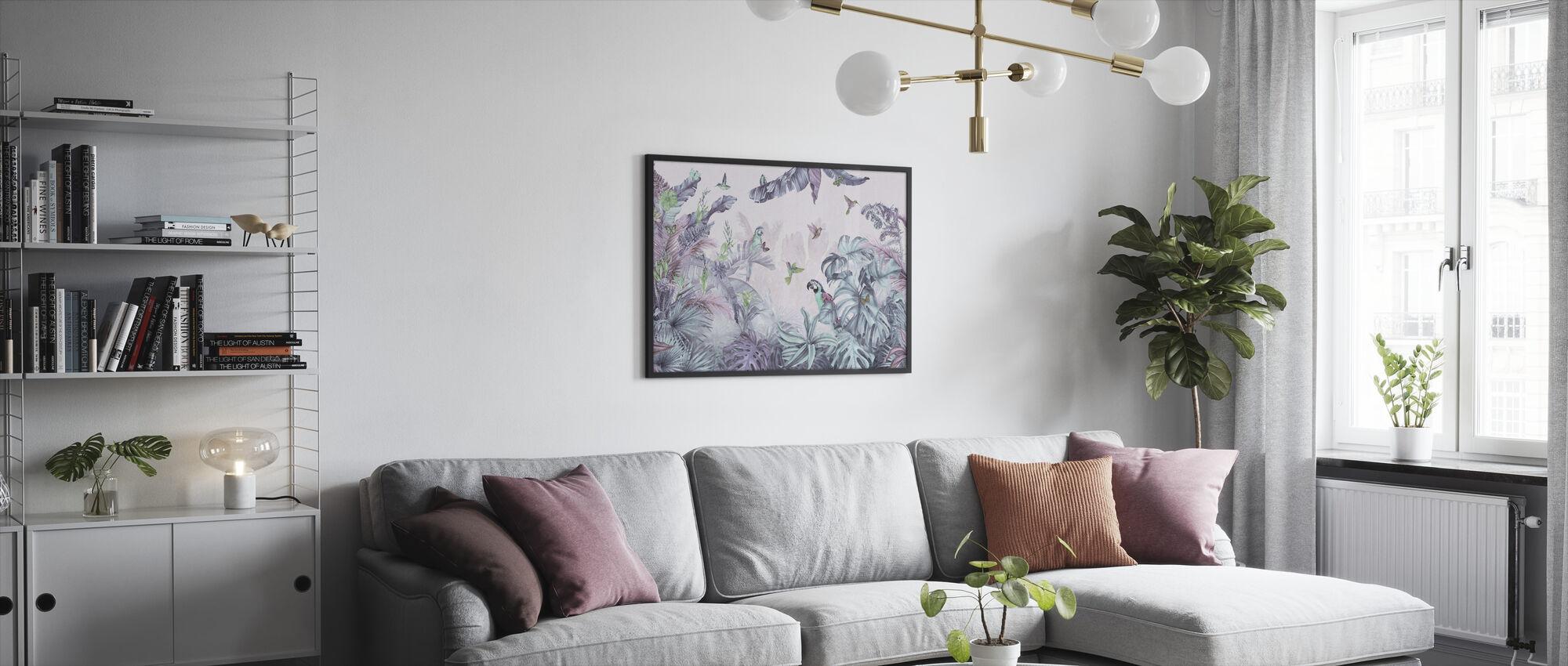 Papegøyer Paradise - Polykrom - Innrammet bilde - Stue