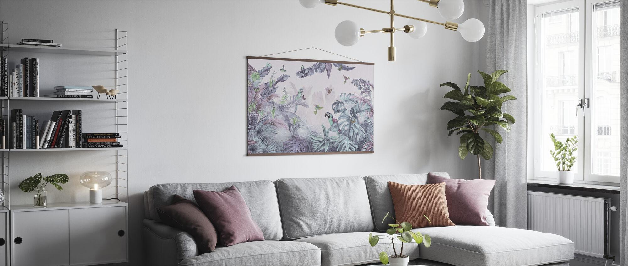 Papegøyer Paradise - Polykrom - Plakat - Stue