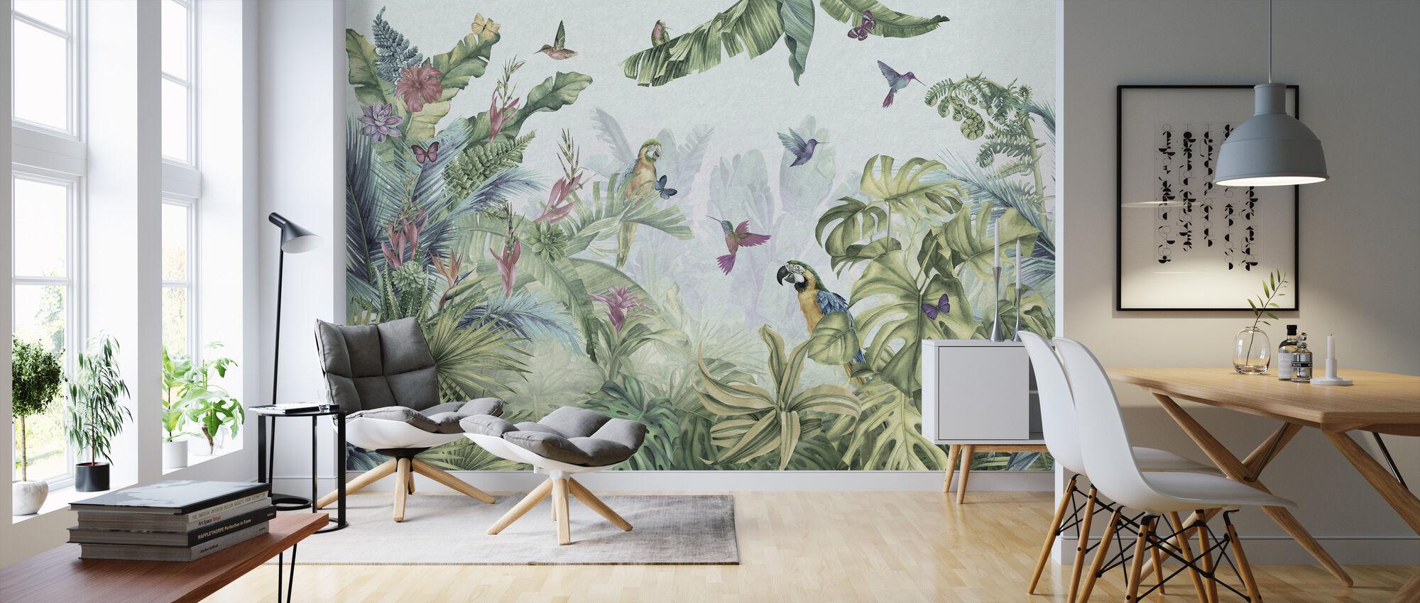 Papageien Paradies - Tapete - Wohnzimmer