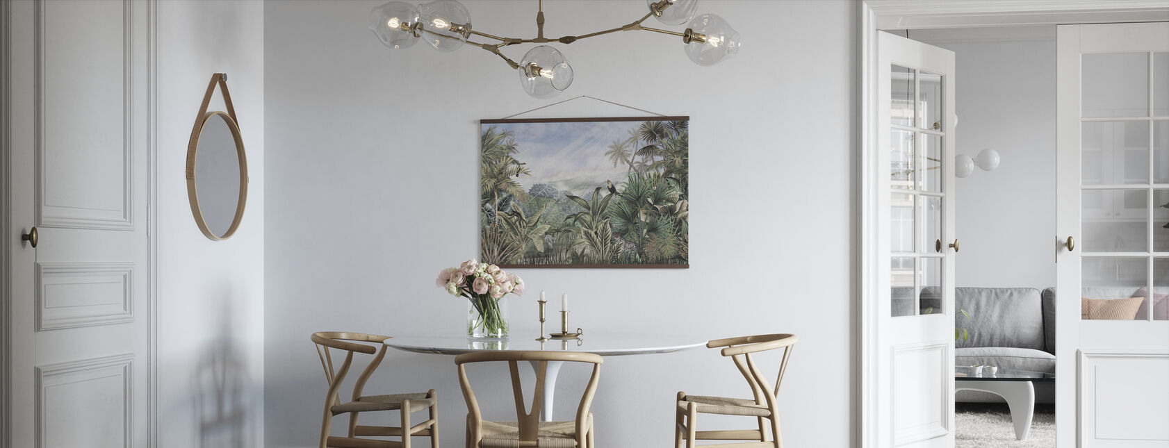 Dag in Jungle - Groen - Poster - Keuken