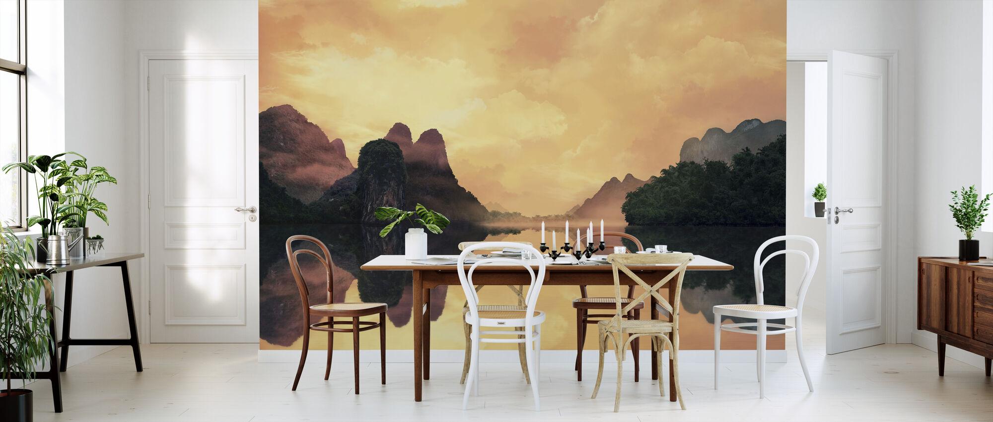 Hazy Sunset Reflection - Wallpaper - Kitchen