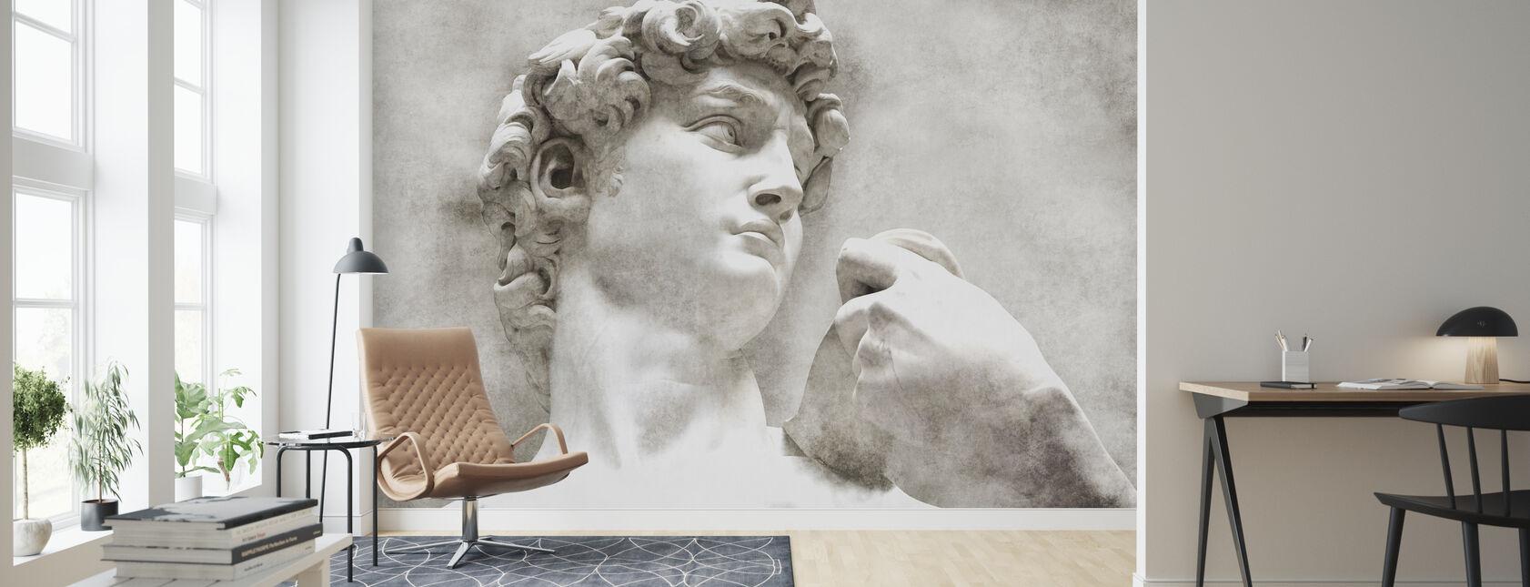 David Statue de Michel-Ange - Papier peint - Salle à manger