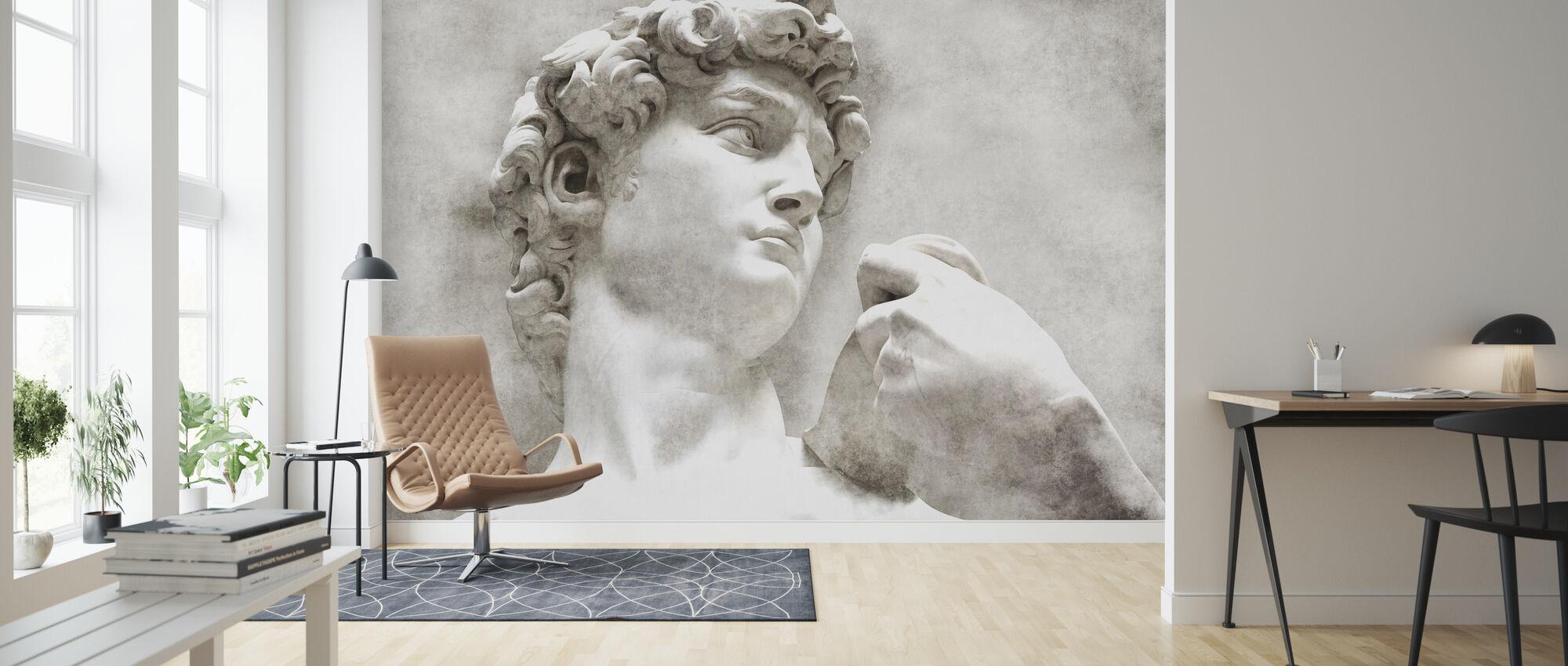 David Statue by Michelangelo - Wallpaper - Living Room