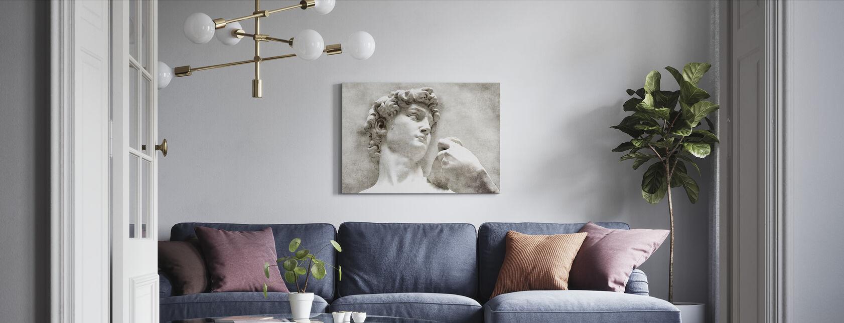 David beeld door Michelangelo - Canvas print - Woonkamer