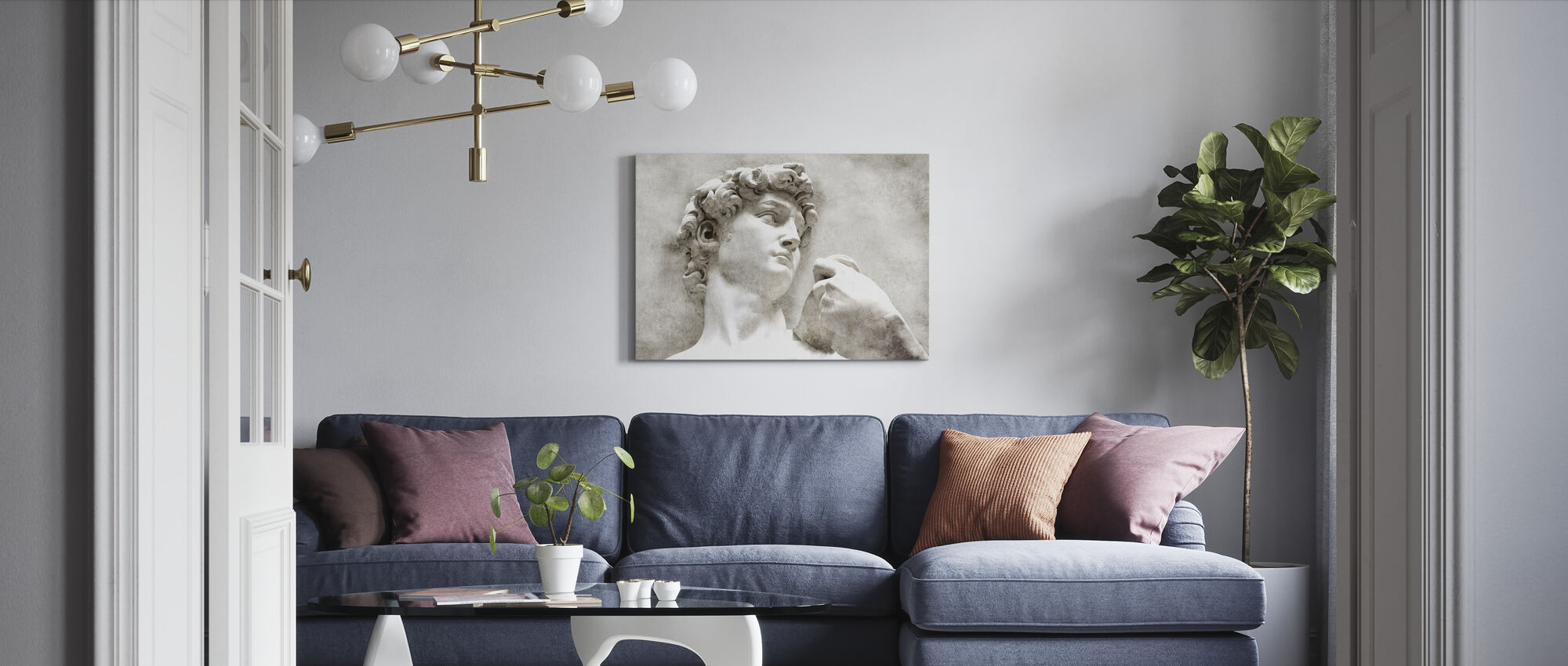 David Statue by Michelangelo - Canvas print - Living Room