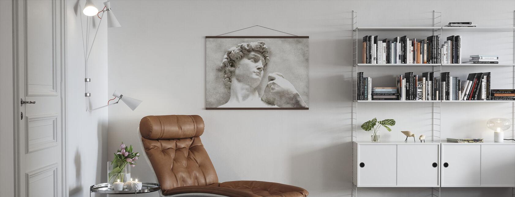 David Statue von Michelangelo - Poster - Wohnzimmer