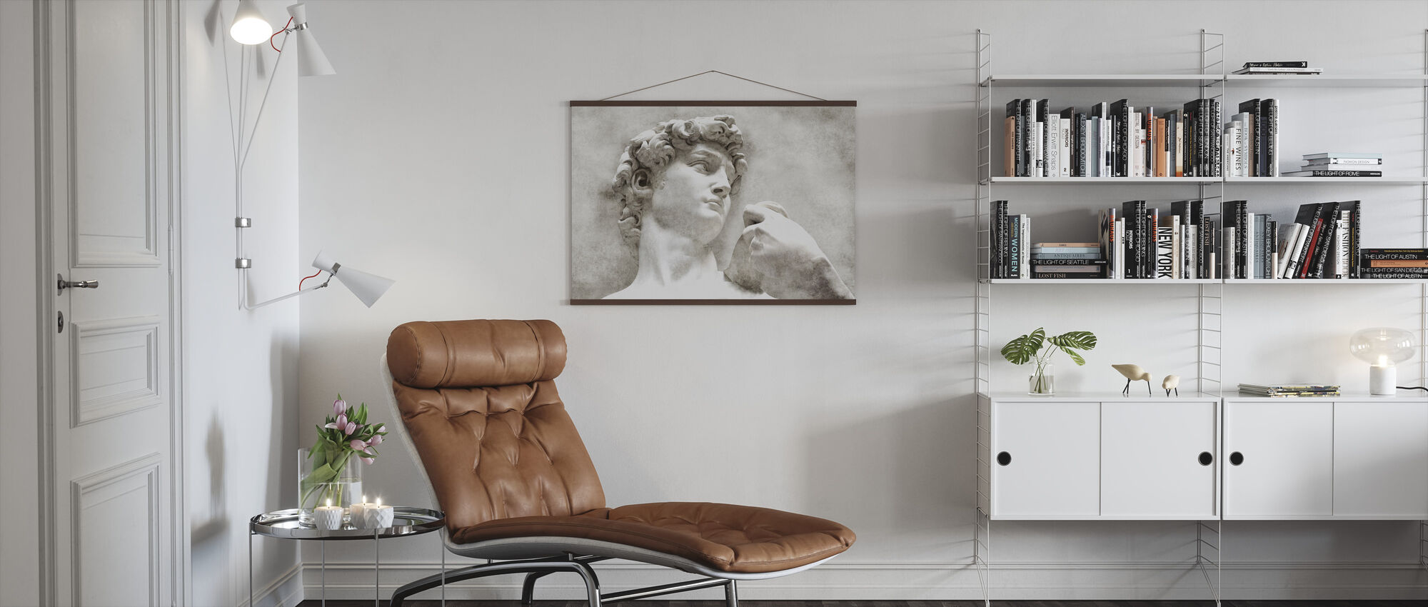 David Statue by Michelangelo - Poster - Living Room