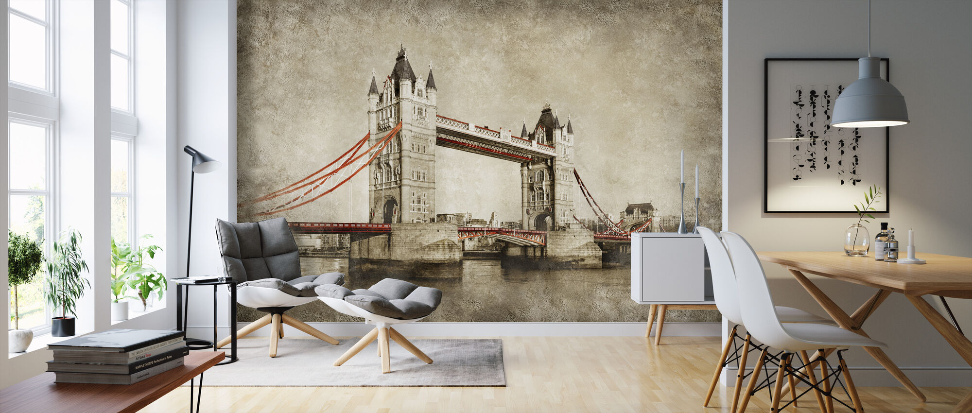 Tower Bridge - London - Wallpaper - Living Room