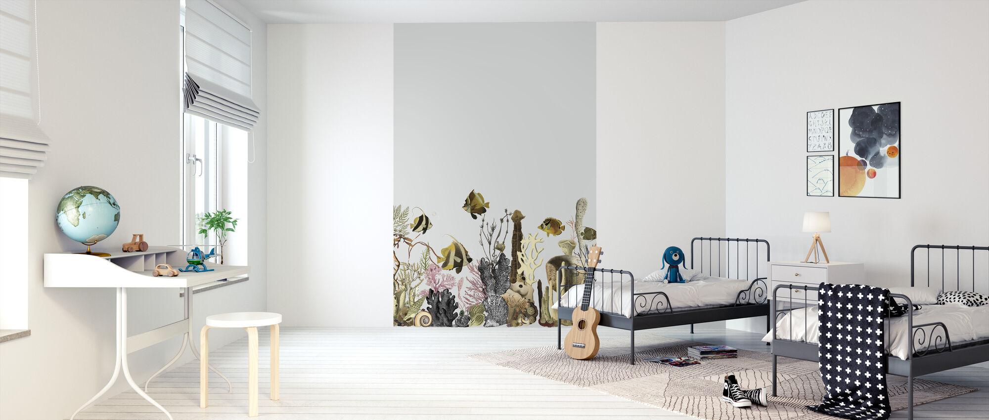 Aquarius - Grey - Wallpaper - Kids Room