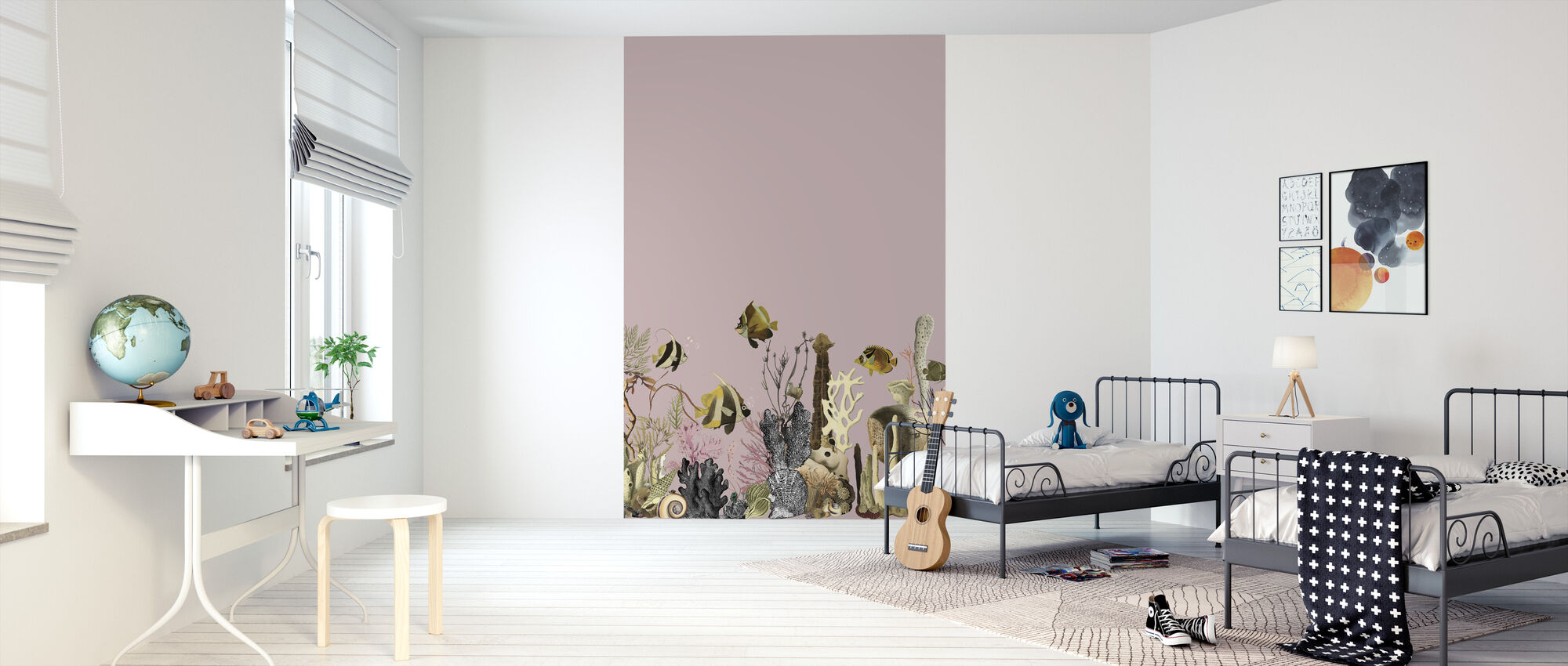 Aquarius - Mauve - Wallpaper - Kids Room
